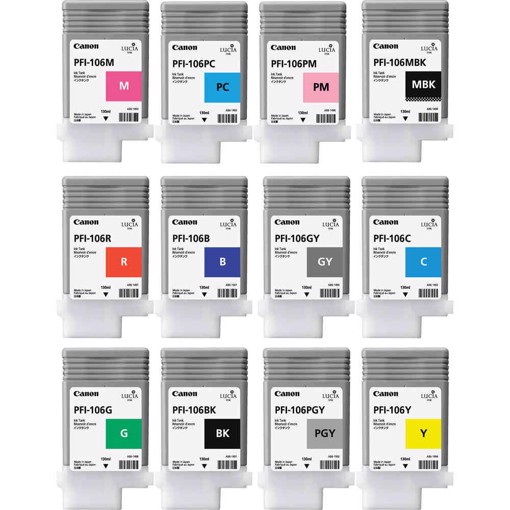 Picture of Pigment Ink Tank PFI - 106  black Ink Tank 130ml for IPF6400S/6400SE/6450