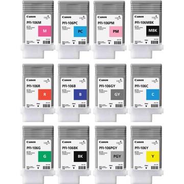 Εικόνα της Pigment Ink Tank PFI-106 Yellow  130ml for IPF6400S/6400SE/6450