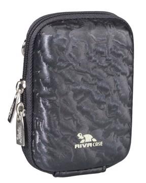 Εικόνα της RivaCase 7023 (PU) DAVOS Digital Case black shiny wave 12/96 Θήκη φωτογραφικής μηχανής