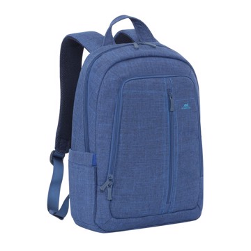 "Εικόνα της RivaCase 7560 Alpendorf Laptop Canvas Backpack 15.6"" blue Τσάντα μεταφοράς Laptop"
