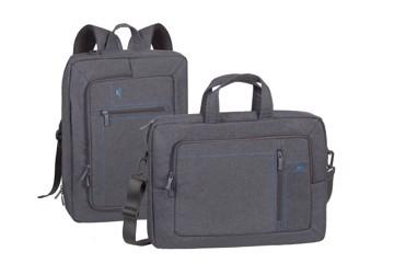 "Picture of RivaCase 7590 Alpendorf grey Laptop transformer bag 16"" Τσάντα μεταφοράς Laptop"