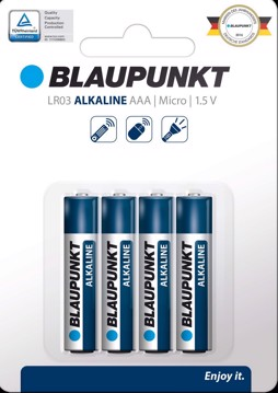 Picture of BLAUPUNKT Alkaline LR03  AAA 4 pack