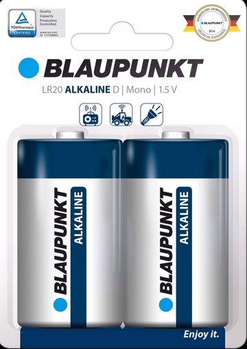 Picture of Blaupunkt Alkaline LR20 D  2 pack