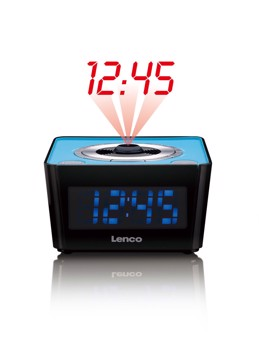 Picture of LENCO CLOCK RADIO CR-016 BLUE Ράδιοξυπνητήρι