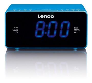 Picture of LENCO CLOCK RADIO CR-520 BLUE Ράδιοξυπνητήρι