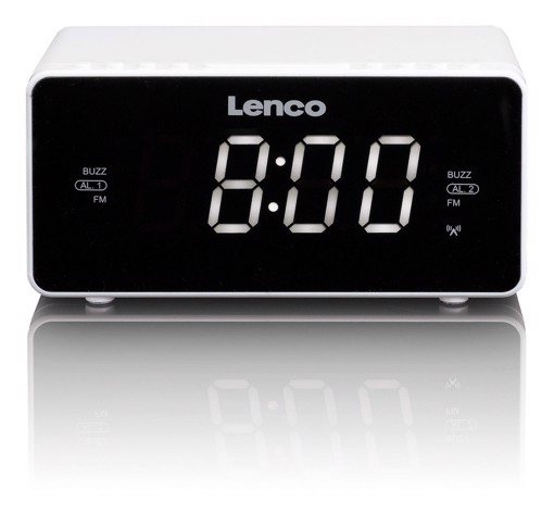 Picture of LENCO CLOCK RADIO  CR-530 WHITE Ράδιοξυπνητήρι