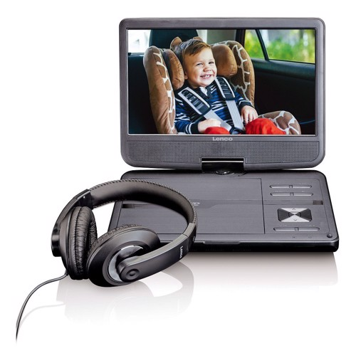 Picture of Portable DVD player with 10 '' screen and headphones