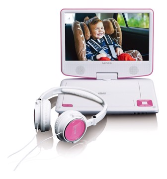 Picture of LENCO PORTABLE DVD DVP-910 PINK Συσκευή αναπαραγωγής DVD