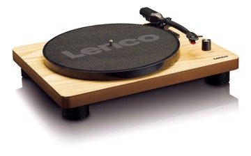Picture of Lenco LS-50WD - Turntable with built-in speakers USB Encoding - Wood