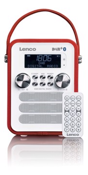 Picture of LENCO RADIO PDR-50 RED Φορητό ραδιόφωνο DAB +