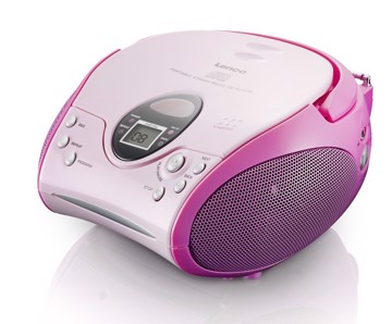 Picture of Lenco SCD-24 Pink - Portable stereo FM radio with CD player - Pink