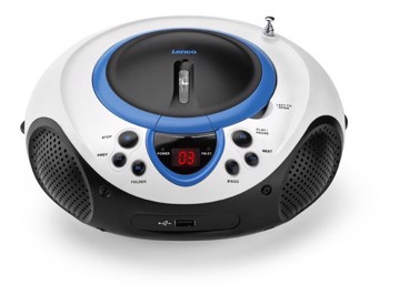 Picture of Lenco SCD-38 USB Blue - Portable FM Radio CD and USB player - Blue