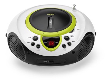Picture of Lenco SCD-38 USB Green - Portable FM Radio CD and USB player - Green