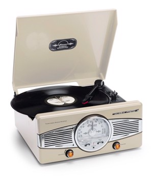 Picture of Classic Phono TT-28 CC Turntable with Radio - speakers - Cream