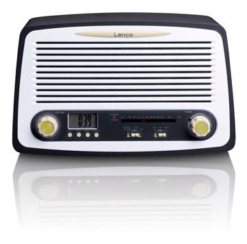 Picture of Lenco SR-02GY FM Retro Table Radio in - clock
