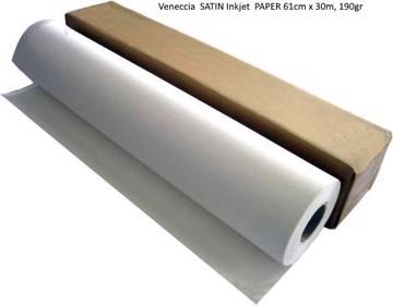 Picture of  Veneccia  SATIN Inkjet  PAPER 61cm x 30m, 190gr
