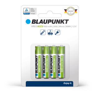 Picture of Blaupunkt HR03 RTU 900  mAh Clamshell Precharged 4 pack