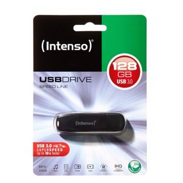 Picture of Intenso USB Drive 3.0 SPEED LINE 128GB Μαύρο