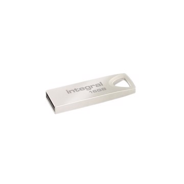 Picture of INTEGRAL METAL ARC USB 3.1 GEN 1 (USB 3.0) FLASH DRIVE 16GB Ασημί