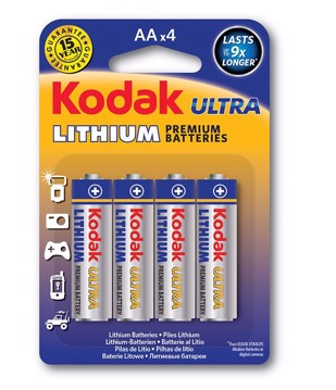 Picture of KODAK ULTRA Lithium Battery AA (4pack)