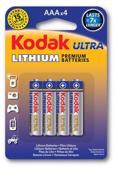 Εικόνα της KODAK ULTRA Lithium Battery AAA (4pack)