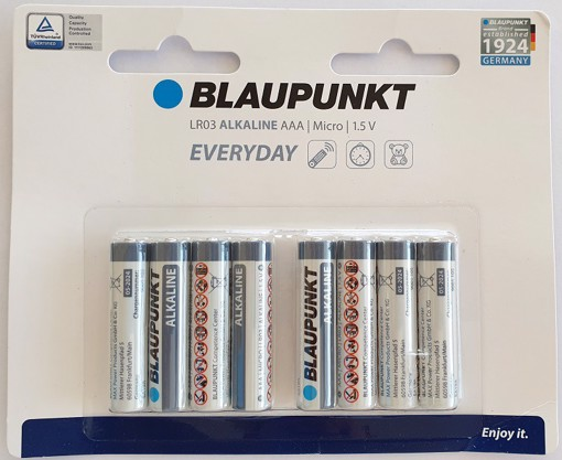 Picture of Blaupunkt Alkaline Everyday LR03 AAA 8 pack