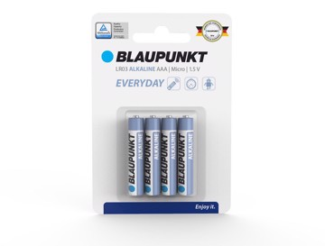 Picture of Blaupunkt Alkaline Everyday LR03 AAA 4 pack