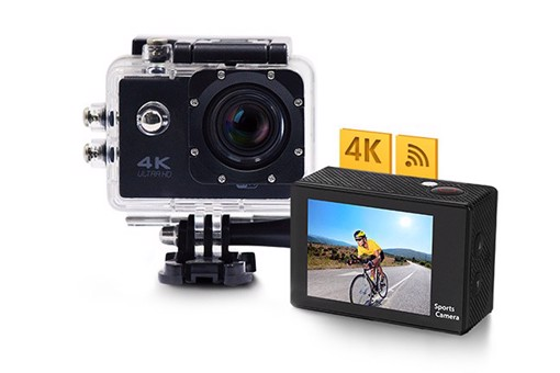 Picture of Action camera with 4K resolution and accessories