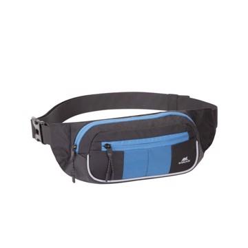 Εικόνα της RivaCase 5215 Mercantour black/blue Waist bag for mobile devices Τσάντα μέσης Μαύρο/μπλε