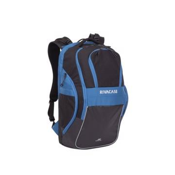 """Picture of RivaCase 5225 Mercantour black/blue 20L Laptop backpack 15.6"""" Σακίδιο πλάτης Μαύρο-Μπλε"""