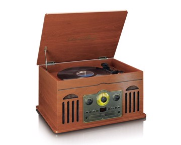 Picture of Classic Phono TCD-2600 Walnut - Turntable - CD - Radio - Cassette - Speakers - Walnut
