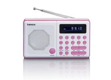 Picture of LENCO RADIO MPR-034 PINK Φορητό ραδιόφωνο