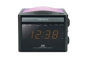 Picture of Digital radio alarm with light & color change