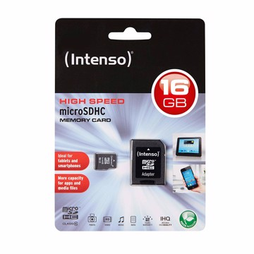 Εικόνα της Intenso Micro SD Card 16GB SDHC Class 10  Κάρτα μνήμης