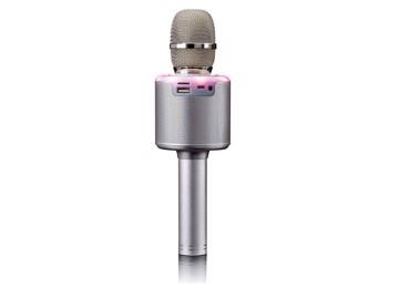 Picture of LENCO BMC-085 Silver Karaoke Microphone με Bluetooth