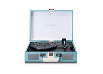 Picture of Classic Phono TT-110BU - Turntable with Bluetooth reception and built in speakers - Blue