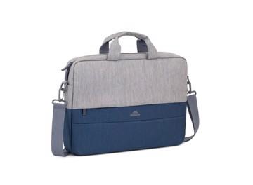 Εικόνα της RIVACASE 7532 Plater Αντικλεπτική τσάντα χειρός λάπτοπ 15,6'', γκρι/σκούρο μπλέ